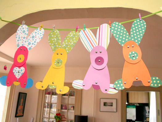 Easter Bunny Crafts for Kids | My House Rabbit's Bunny Blog: Paper Bunnies, Crafts For Kids, Crafts Ideas, Bunnies Crafts, Easter Crafts, Easter Bunnies, Bunnies Garlands, Preschool Crafts, Spring Crafts