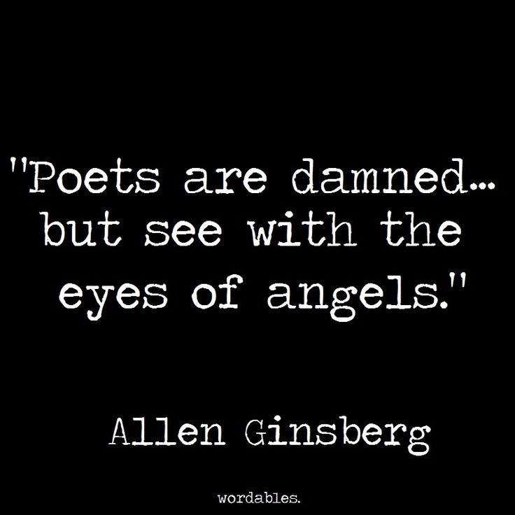 allen ginsberg poets are damned