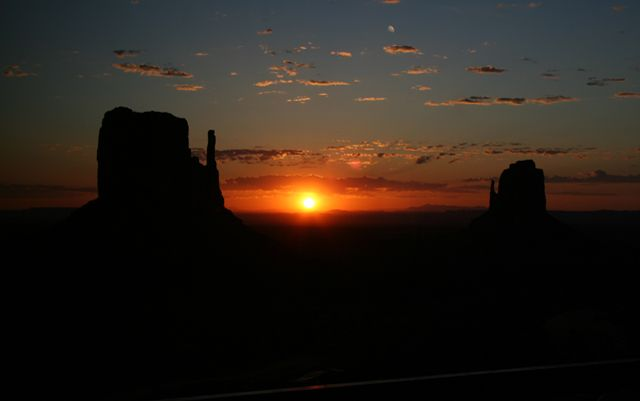 Monument Valley, view from the hotel rooms.  We stayed at this hotel 2 nights, it was beautiful.  May 2012