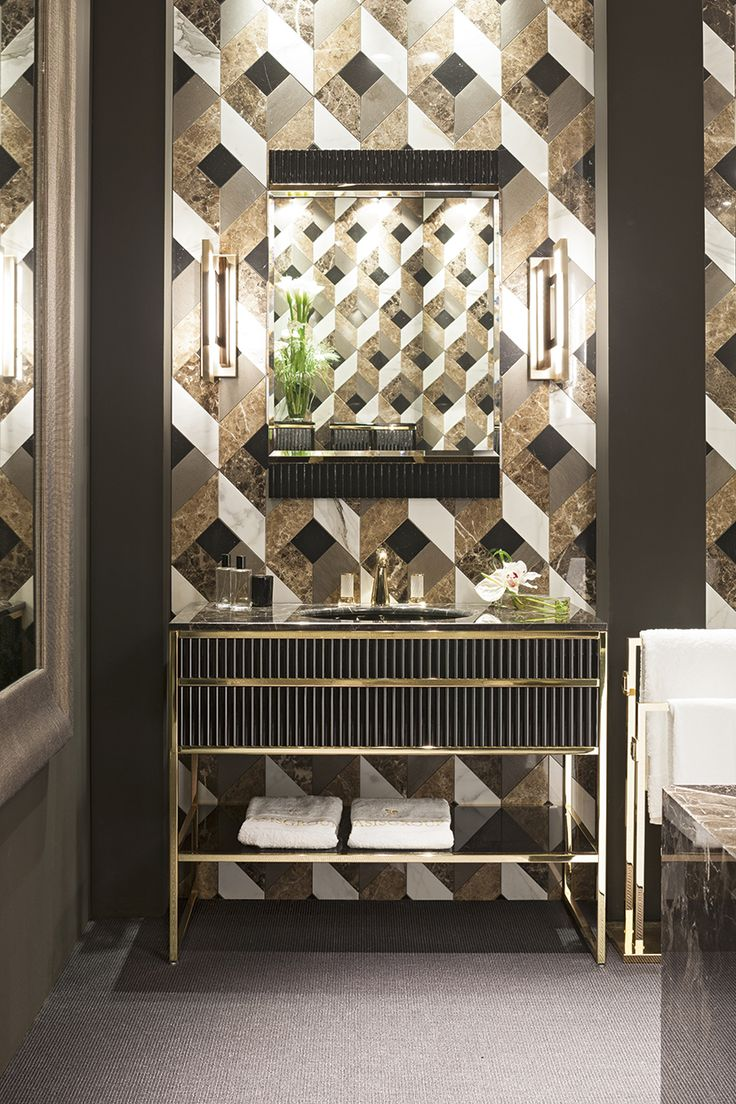 Luxury hotel bathroom designs - Luxury Bathroom Featuring Academy Collection Massimiliano Raggi For Oasis Group
