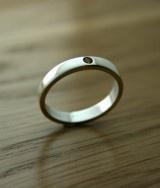 Flush Set Citrine Silver Ring