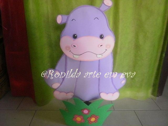 enfeite de chão hipopótamo 1 metro