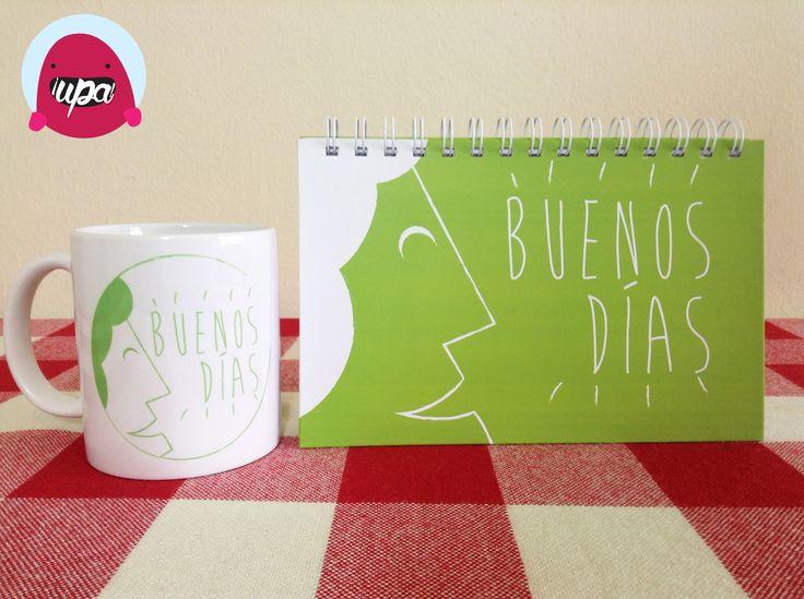 Cuaderno y pocillo / notebook / mug / design / illustration