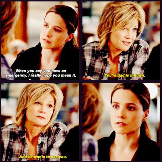 Bunny: You're dad is in town. And he wants to see you. (4x08)