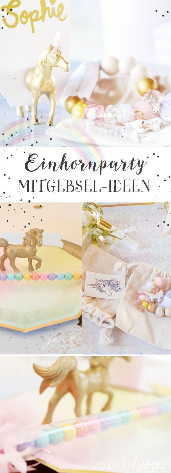 Einhorn Party Mitgebsel Ideen