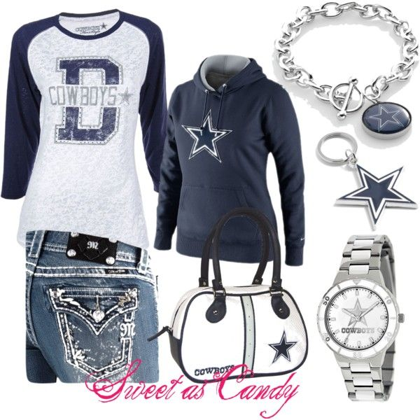 """""""Dallas Cowboys ♥"""" by sweetlikecandycane on Polyvore"""