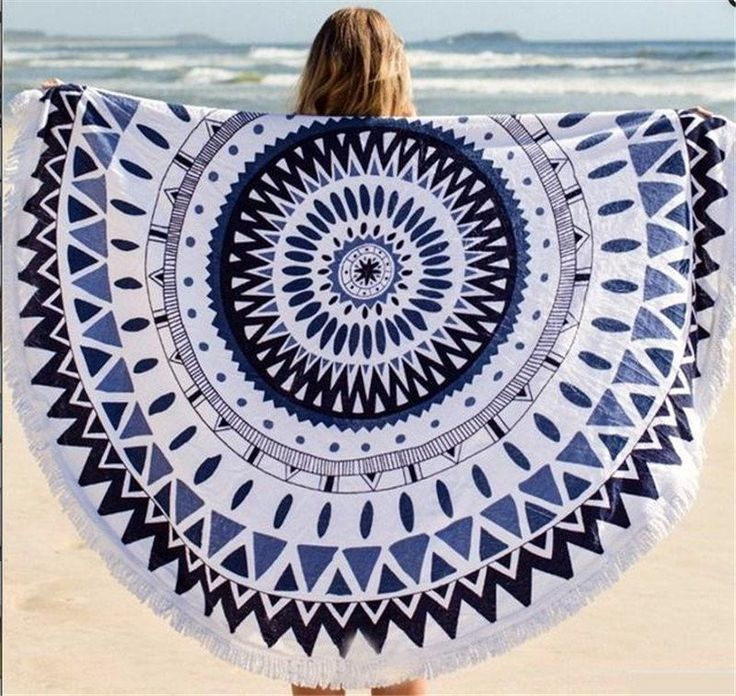 Ultra Soft Round Beach Towel With Tassels With Images Circular