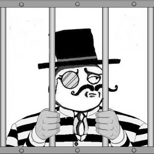 For some reason, this picture strikes me as brilliant. 'Imprisoned... Like a sir.'