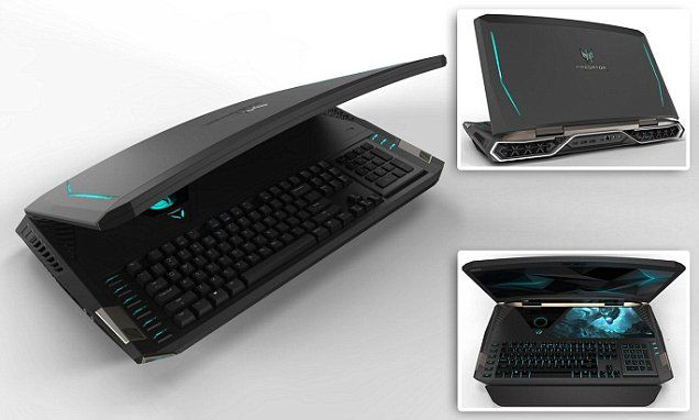 Acer unveils the world's first laptop with a curved screen