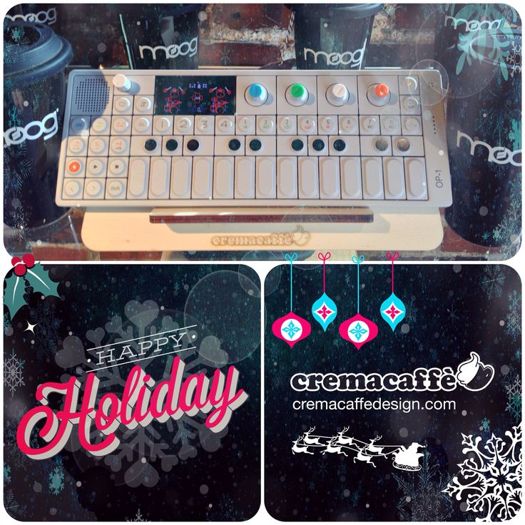 #HappyHolidays to you all! :) #Cremacaffedesign #op1 #synth #MoogStore   http://cremacaffedesign.com