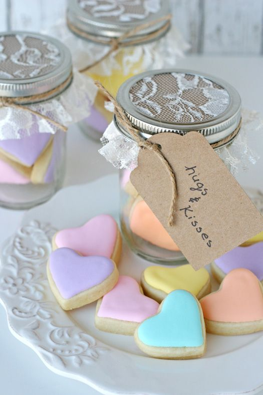 Heart Cookies in a Jar