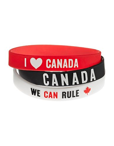 HBC Collections | Sochi 2014 Canadian Olympic Team Collection | Sochi 2014 Rubber Bracelets Three Pack | Shop the Hudson's Bay at Scarborough Town Centre. #Sochi2014 #Olympics #Canada
