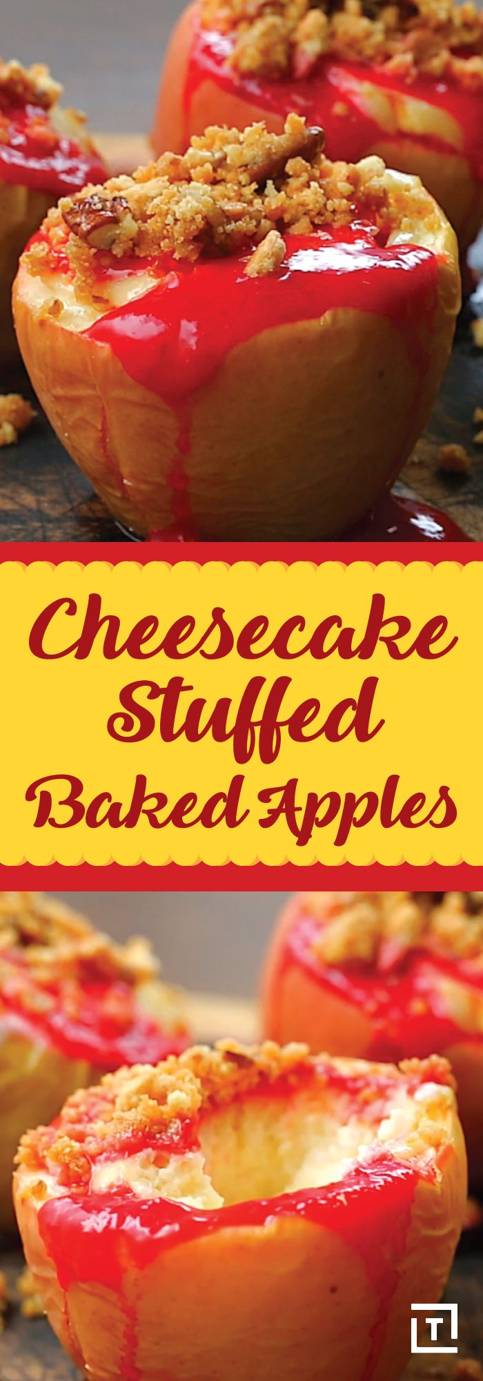 Here's the deal: this recipe by Twisted still counts as healthy because it involves apples and raspberry coulis, and you can't convince us otherwise. Maybe we're in denial, but we don't mind one bit because these cheesecake-stuffed apples are just that good. Creamy, sweet, and oh so seasonal, these flavor-obsessed treats are the ideal dessert for any festive holiday meal.