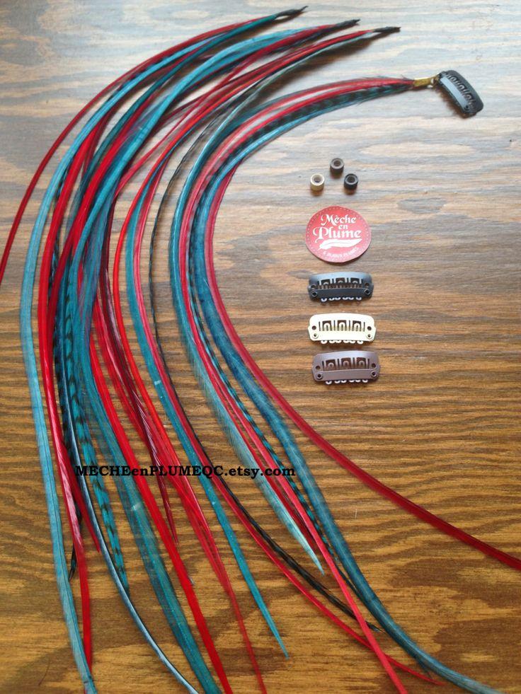 Extension Plumes Boho /Cheveux /Bijoux /Mèche Plume Vintage de la boutique MECHEenPLUMEQC sur Etsy