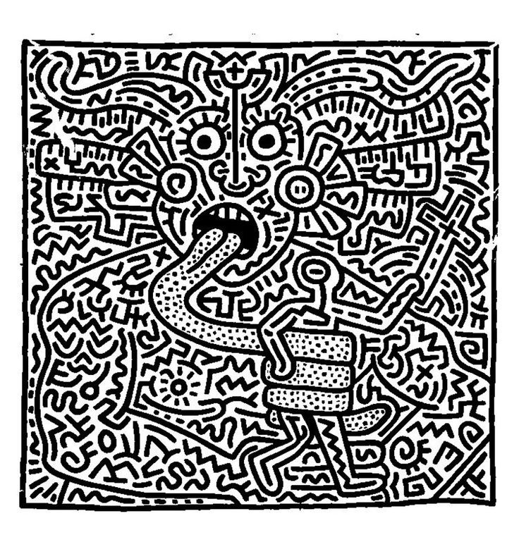 Coloring Adult Keith Haring 1 From The Gallery Art Pages To PrintFree
