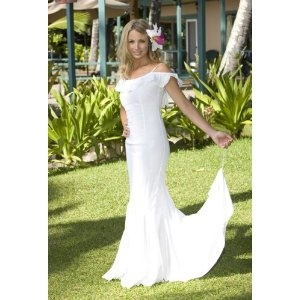 Queen Kaahumanu Hawaiian Wedding Holoku - Laua`e Collection Beach Wedding Dress (Apparel)  http://howtogetfaster.co.uk/jenks.php?p=B000UIEEK4  B000UIEEK4