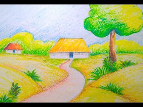 Beautiful Scenery Drawing Easy Tutorial For Kids Sbv Draw Along