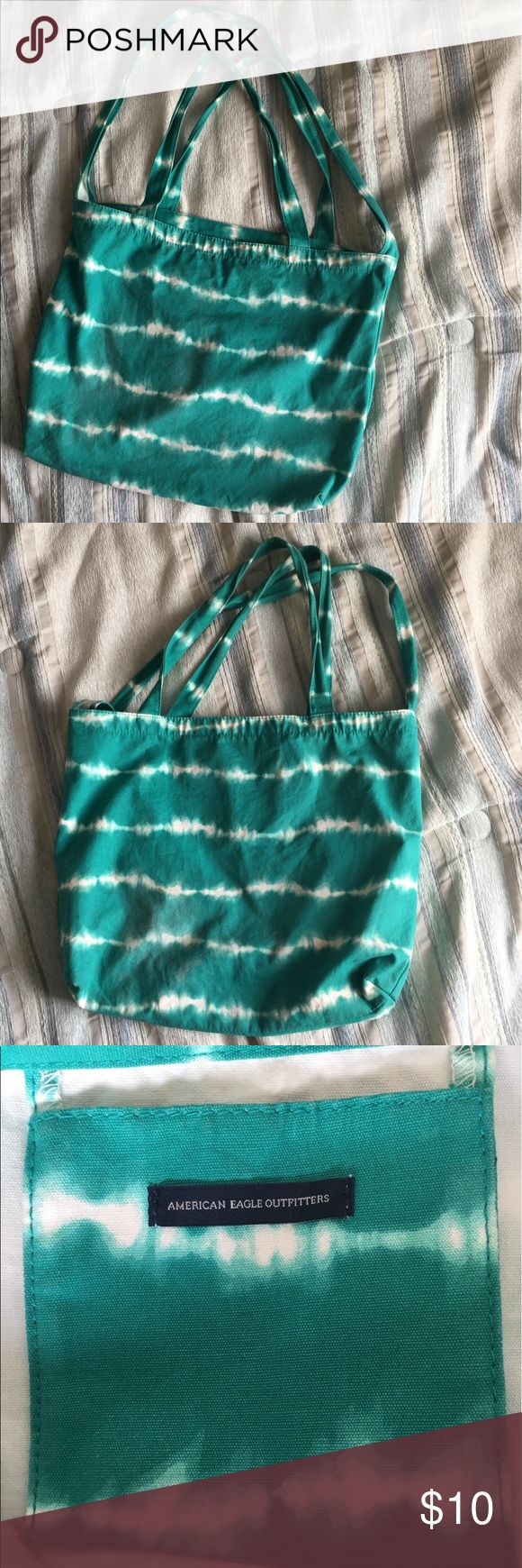 American Eagle Outfitters Tote Tie dye Turquoise color Great from traveling No holes No rips American Eagle Outfitters Bags Totes