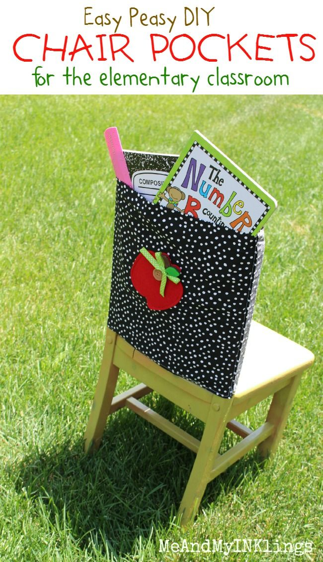 Fun and simple back-to-school sewing project. Love the apple applique on the back.