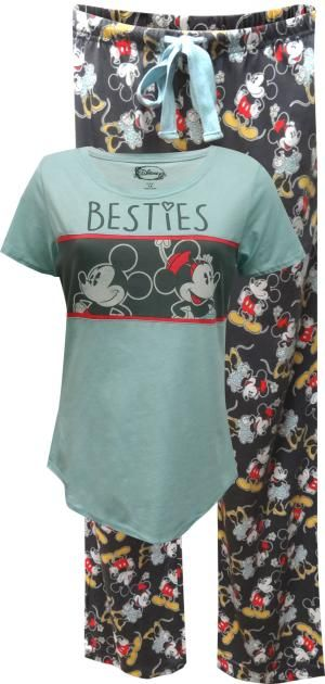 Mickey and Minnie Mouse Besties Cotton Plus Size Pajama Set