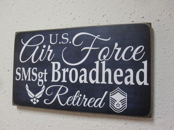 Air Force Retirement Sign  Military Retirement  by BornOnBonn, $20.00