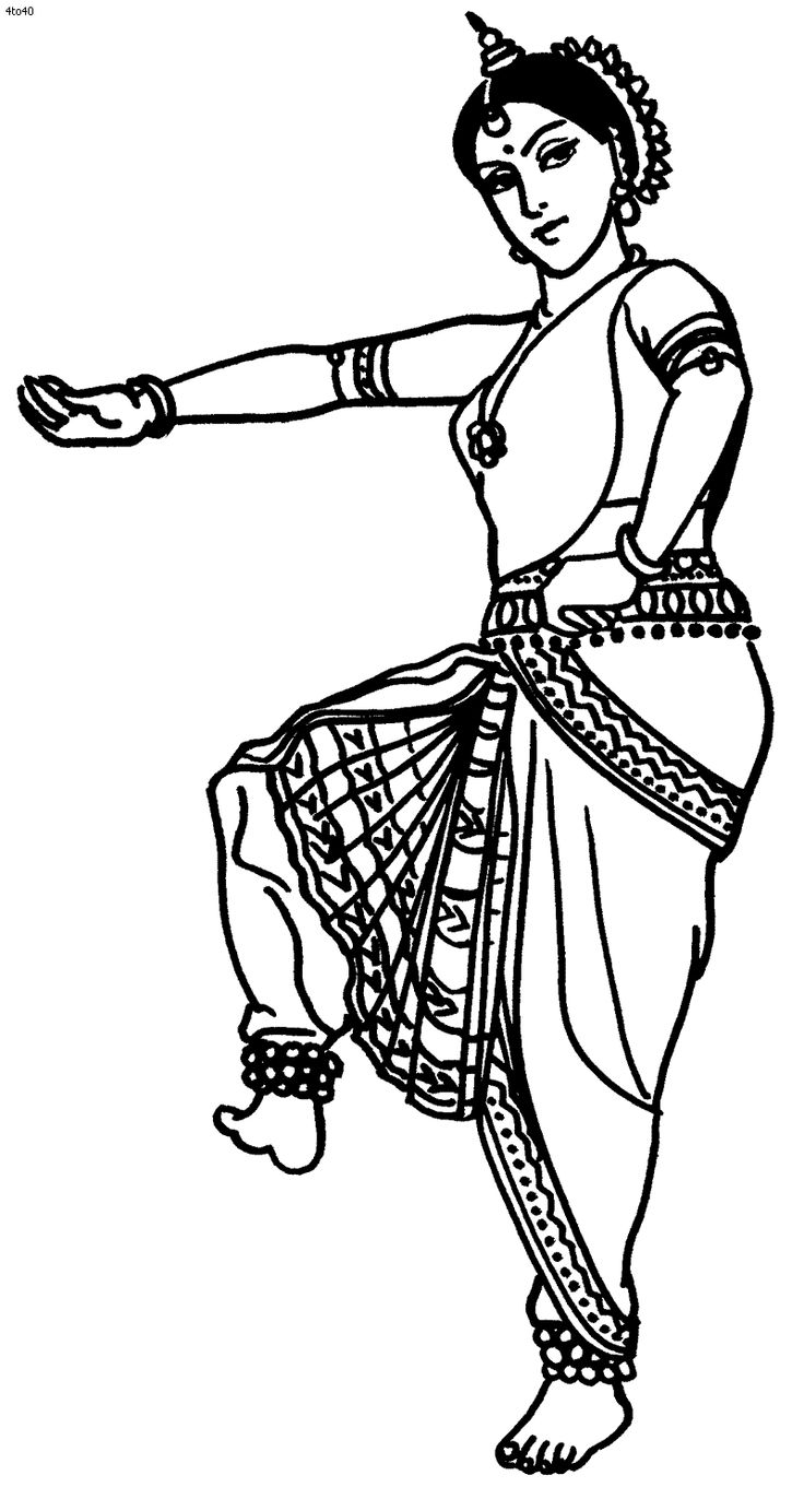 Coloring pages from india ~ Great website with TONS of Indian folk dance coloring ...