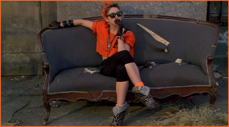 desperately seeking susan,  madonna couch.. I am looking for shoes like this that folds down as well.. any ideas?