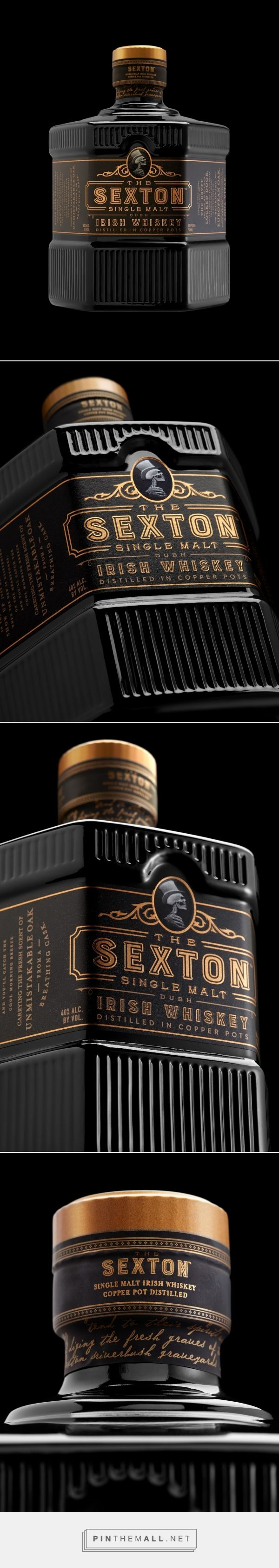 The Sexton whiskey packaging design by Stranger & Stranger - http://www.packagingoftheworld.com/2017/11/the-sexton.html