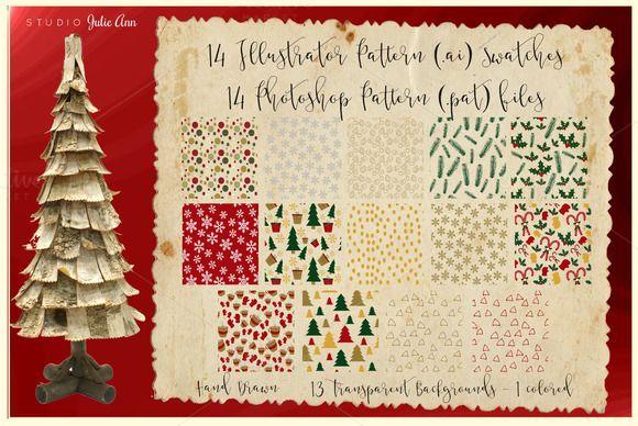 Christmas Patterns .ai .pat by Studio Julie Ann on Creative Market