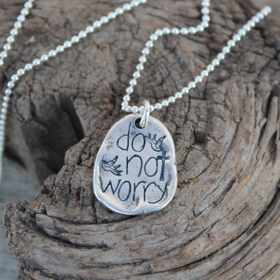 Do Not Worry Visible Faith Jewelry Company by VisibleFaithJewelry