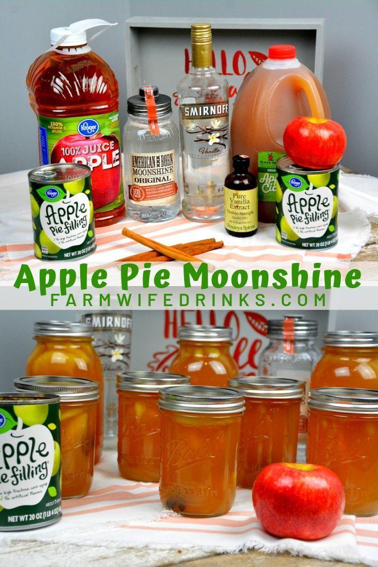 Apple pie moonshine combines apple cider and juice with apple pie ...