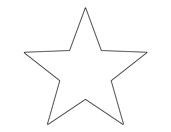 Star template for american flag for Small star template printable free