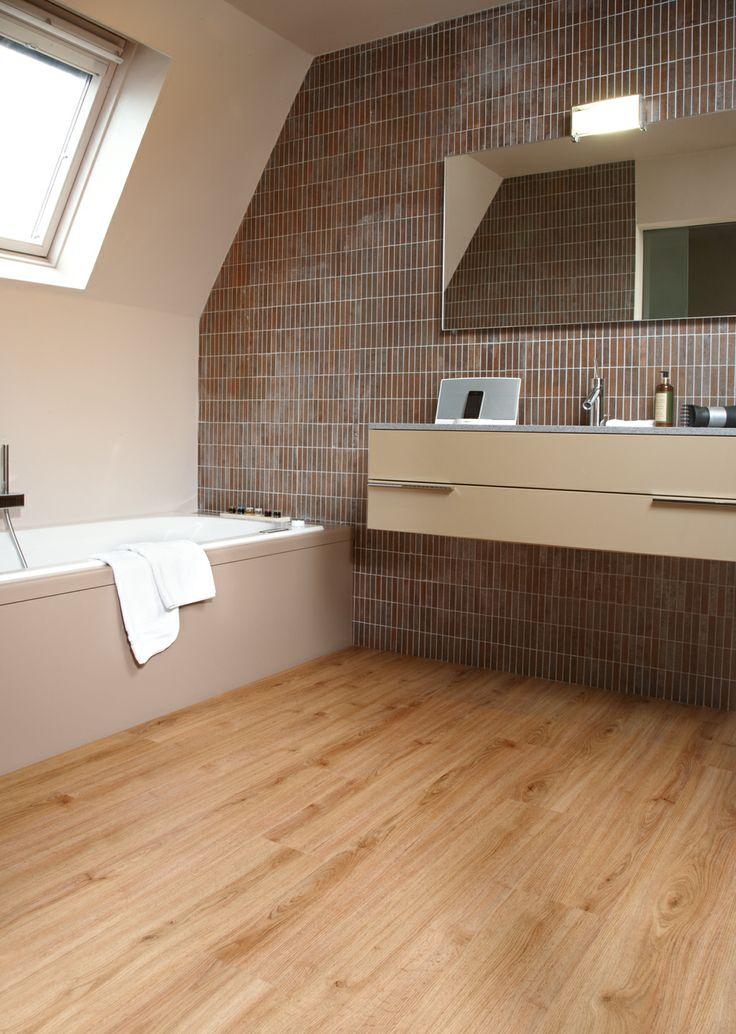 Moduleo 39 houten 39 vinyl vloer badkamers pinterest - Vinyl imitatie tegel ...