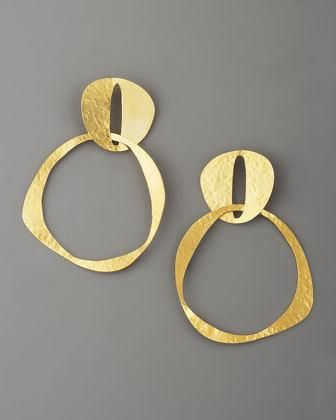 Herve Van Der Streaten double circ #earrings