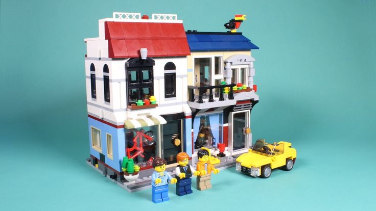 Lego Bike Shop and Cafe' Assembly Animation - Lego Creator 31026 Stop Mo...
