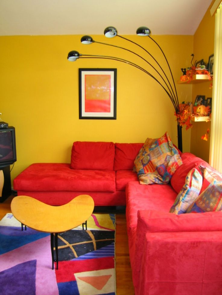 Living Room Paint Ideas Red Endearing 20 Yellow And Inspiration Design