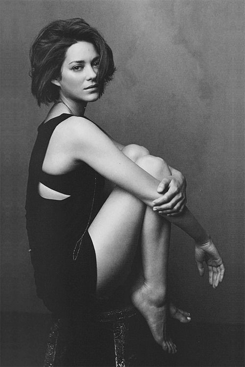 "Marion Cotillard. I suddenly feel like a short hair cut doesn't have to be a ""mom cut"". Love this."