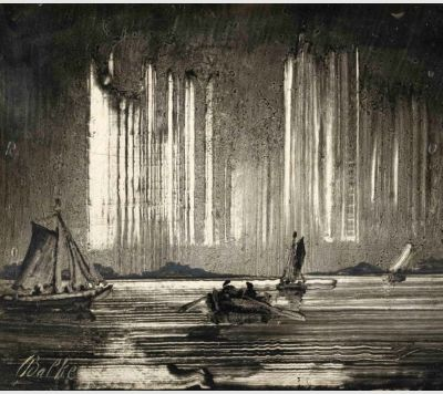 19th century Norwegian artist Peder Balke's impressions of the northern lights. Curated by Nordnorges Kunstmuseum - The Art Museum of Northern Norway