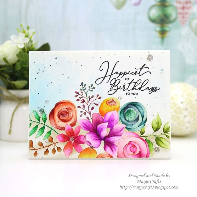 Simon Says Stamp Simple Watercolor Flower Card Watercolor
