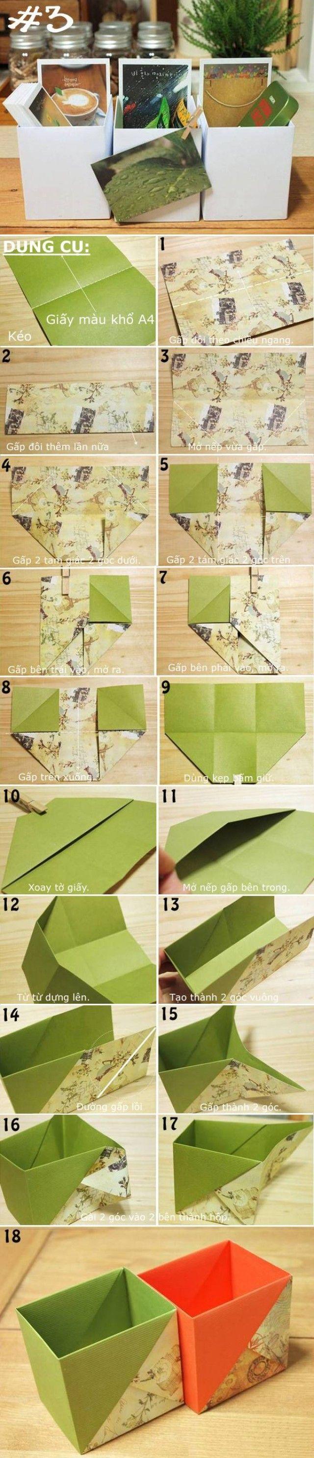 Gấp giấy thành đủ kiểu hộp đựng đồ hữu ích - Kenh14 Mobile