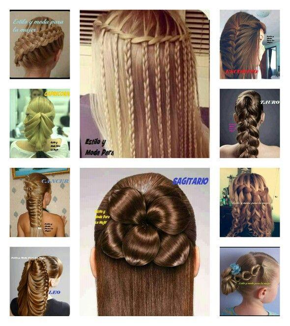 Peinados modernos y elegantes. | Peinados a la moda ...