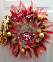 San Francisco 49ers Team Spirit Wreath