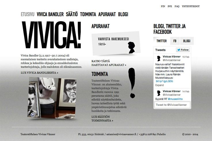 Vivicas Vänner -säätiö | Teaterstiftelsen Vivicas Vänner