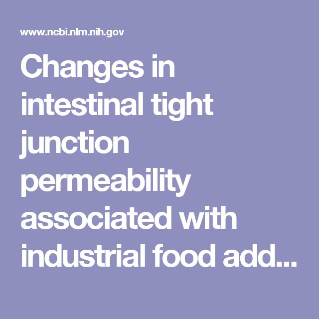 Changes in intestinal tight junction permeability associated with industrial food additives explain the rising incidence of autoimmune disease.  - PubMed - NCBI