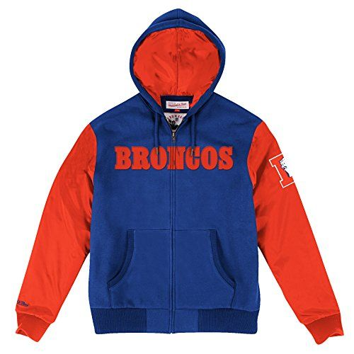 "Denver Broncos Mitchell & Ness NFL ""Skills"" Full Zip Hooded Premium Jacket  https://allstarsportsfan.com/product/denver-broncos-mitchell-ness-nfl-skills-full-zip-hooded-premium-jacket/  Full zip premium jacket Front pockets 80% cotton/20% polyester"
