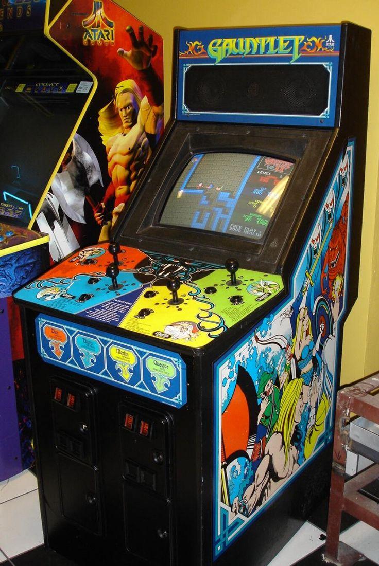 Gauntlet Arcade games, Retro arcade, Vintage video games