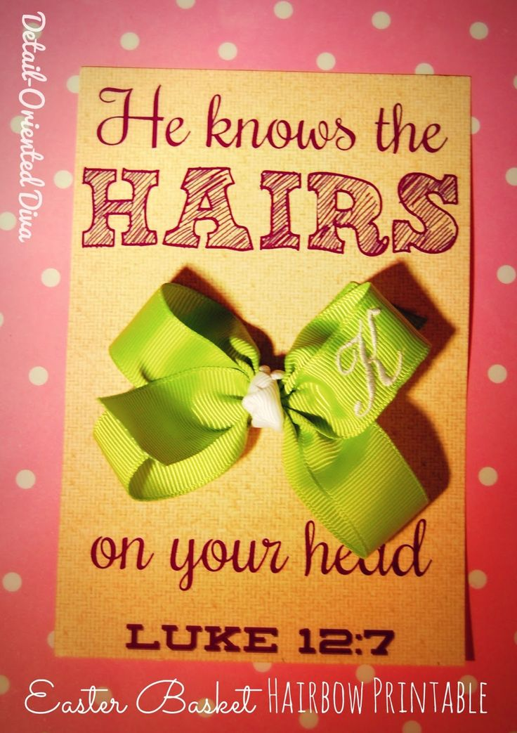 Detail-Oriented Diva!: Christ-Centered Easter Basket: { He Knows The Hairs on Your Head }