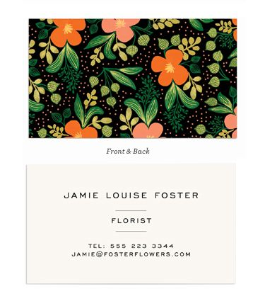 Pattern on one side. Different patterns? Midnight Garden Notes & Calling Cards