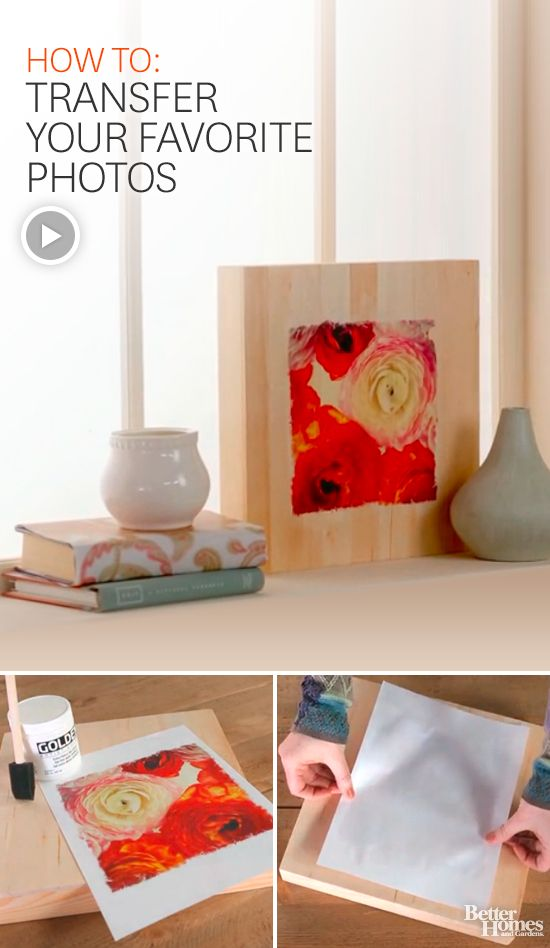 Use favorite photos in your home's decor. Learn how to photo transfer with this crafty DIY project.