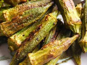 Use fresh okra, not frozen for this recipe. Frozen okra is too high in its moisture content and the okra will not get crispy enough. Serves4-6 Cook Time 20-30 minutes Ingredients: 1 tsp olive oil …